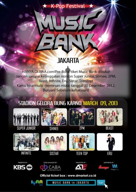 this year they will visit jakarta indonesia for their 5th stop so are u ready to meet your favorite artist at kbs music bank in