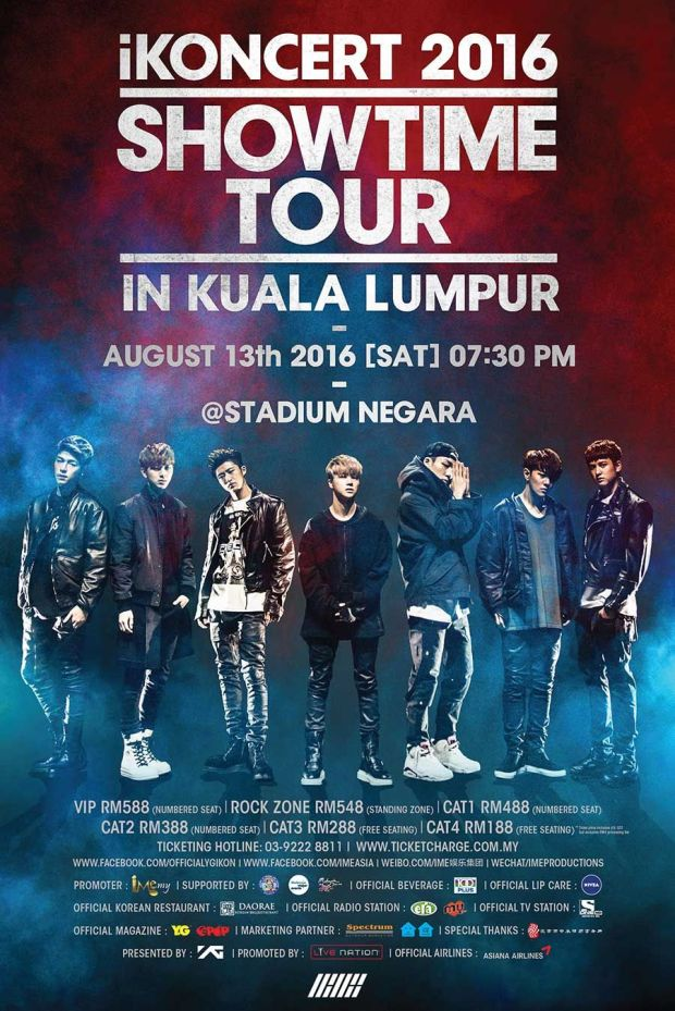 #iKONCERT 2016 Showtime Tour in KL